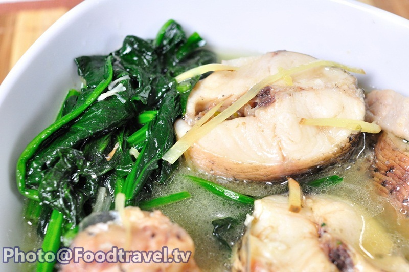 Snake fish soup with boiled spinach recipe for Boiled fish recipe