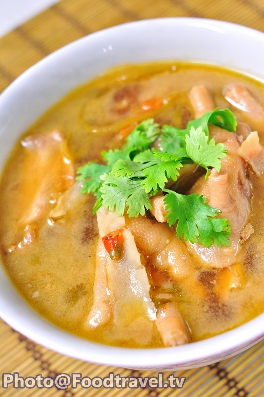 how to make chicken foot soup trini style